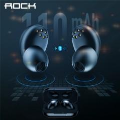 ROCK - Mini TWS - auricular Bluetooth con caja de la batería para cargar