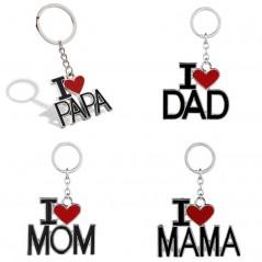I LOVE MAMA PAPA - llaveros