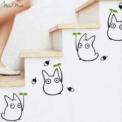 Nuevo nido-Totoro vinilo etiquetas de la pared