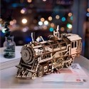 Robotime - locomotora 3D modelo de madera - reloj engranaje