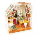 Robotime - juguete de 14 tipos de casa con muebles miniatura