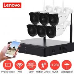 LENOVO 6CH Array HD sistema de cámara de seguridad inalámbrica DVR Kit 960 P WiFi