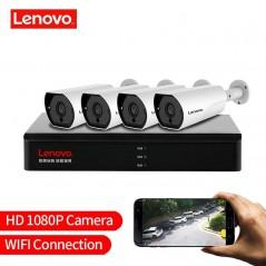 LENOVO P 4CH 1080 p POE NVR Kit 2.0MP HD CCTV sistema de cámara de seguridad monitor de Audio cámara IP P2P