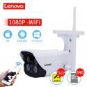 Cámara IP LENOVO wifi 1080 p IR cámara cctv exterior - vigilancia nocturna - resistente al agua - hd incorporada 64GB de memoria