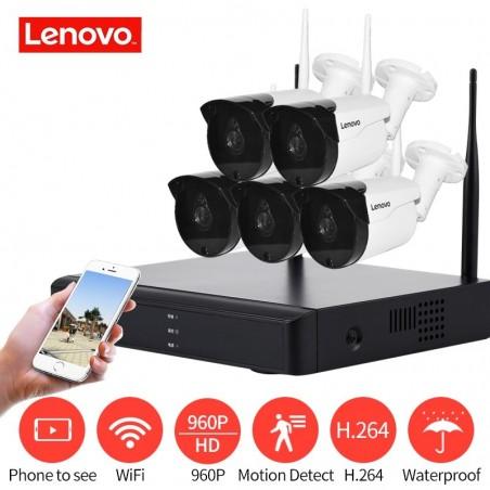 LENOVO 5CH Array HD sistema de cámara de seguridad inalámbrica DVR Kit 960 P WiFi - HD NVR visión nocturna